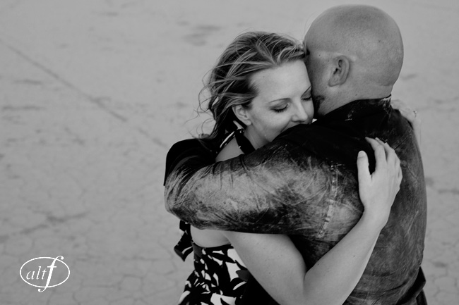 dry lake engagement photography