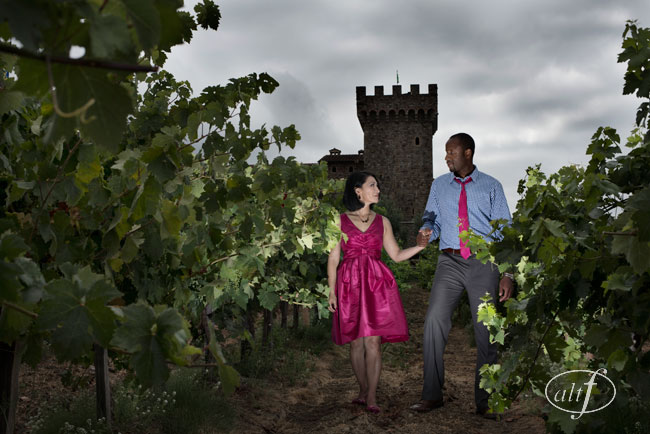 Castello di Amorosa engagement photographer napa