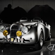 1953 jaguar XK120 photography